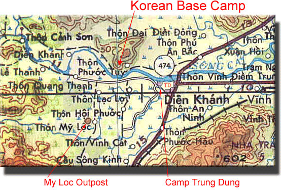 Korean Vietnam War Maps | Korean Vietnamese War Maps | Detachment A